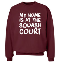 My home is at the squash court Adult's unisex maroon Sweater 2XL