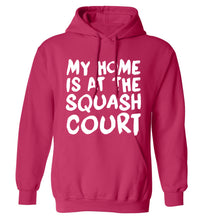 My home is at the squash court adults unisex pink hoodie 2XL