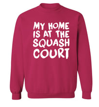 My home is at the squash court Adult's unisex pink Sweater 2XL