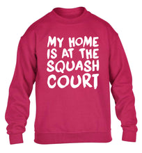 My home is at the squash court children's pink sweater 12-14 Years