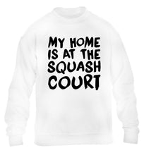 My home is at the squash court children's white sweater 12-14 Years