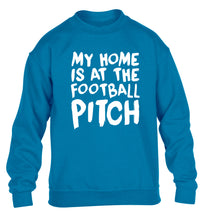 My home is at the football pitch children's blue sweater 12-14 Years