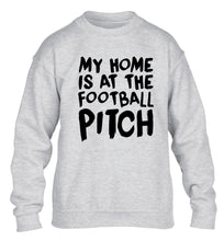 My home is at the football pitch children's grey sweater 12-14 Years