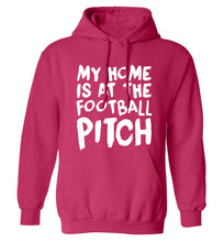 My home is at the football pitch adults unisex pink hoodie 2XL