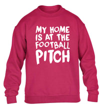 My home is at the football pitch children's pink sweater 12-14 Years
