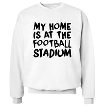 My home is at the football stadium Adult's unisex white Sweater 2XL