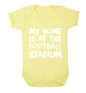 My home is at the football stadium Baby Vest pale yellow 18-24 months