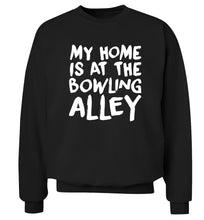 My home is at the bowling alley Adult's unisex black Sweater 2XL
