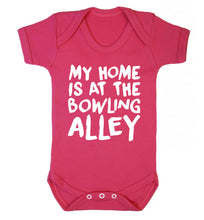 My home is at the bowling alley Baby Vest dark pink 18-24 months