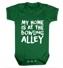 My home is at the bowling alley Baby Vest green 18-24 months
