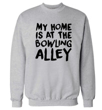 My home is at the bowling alley Adult's unisex grey Sweater 2XL