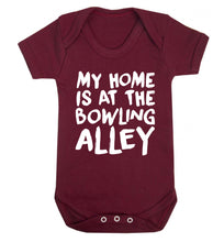 My home is at the bowling alley Baby Vest maroon 18-24 months