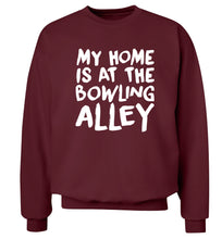 My home is at the bowling alley Adult's unisex maroon Sweater 2XL