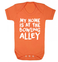 My home is at the bowling alley Baby Vest orange 18-24 months