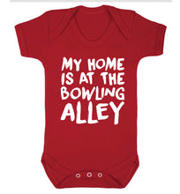 My home is at the bowling alley Baby Vest red 18-24 months