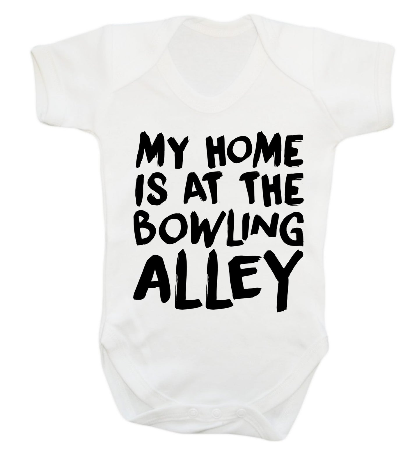 My home is at the bowling alley Baby Vest white 18-24 months