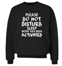 Please do not disturb sleeping mode has been activated Adult's unisex black Sweater 2XL