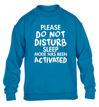Please do not disturb sleeping mode has been activated children's blue sweater 12-14 Years