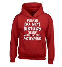 Please do not disturb sleeping mode has been activated children's red hoodie 12-14 Years