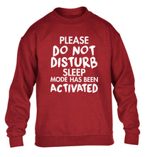 Please do not disturb sleeping mode has been activated children's grey sweater 12-14 Years
