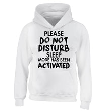 Please do not disturb sleeping mode has been activated children's white hoodie 12-14 Years