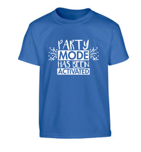 Please do not disturb party mode has been activated Children's blue Tshirt 12-14 Years