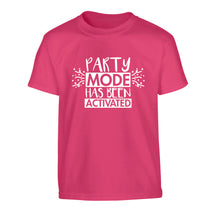 Please do not disturb party mode has been activated Children's pink Tshirt 12-14 Years