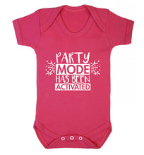 Please do not disturb party mode has been activated Baby Vest dark pink 18-24 months