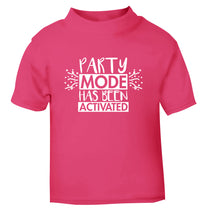 Please do not disturb party mode has been activated pink Baby Toddler Tshirt 2 Years