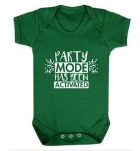Please do not disturb party mode has been activated Baby Vest green 18-24 months