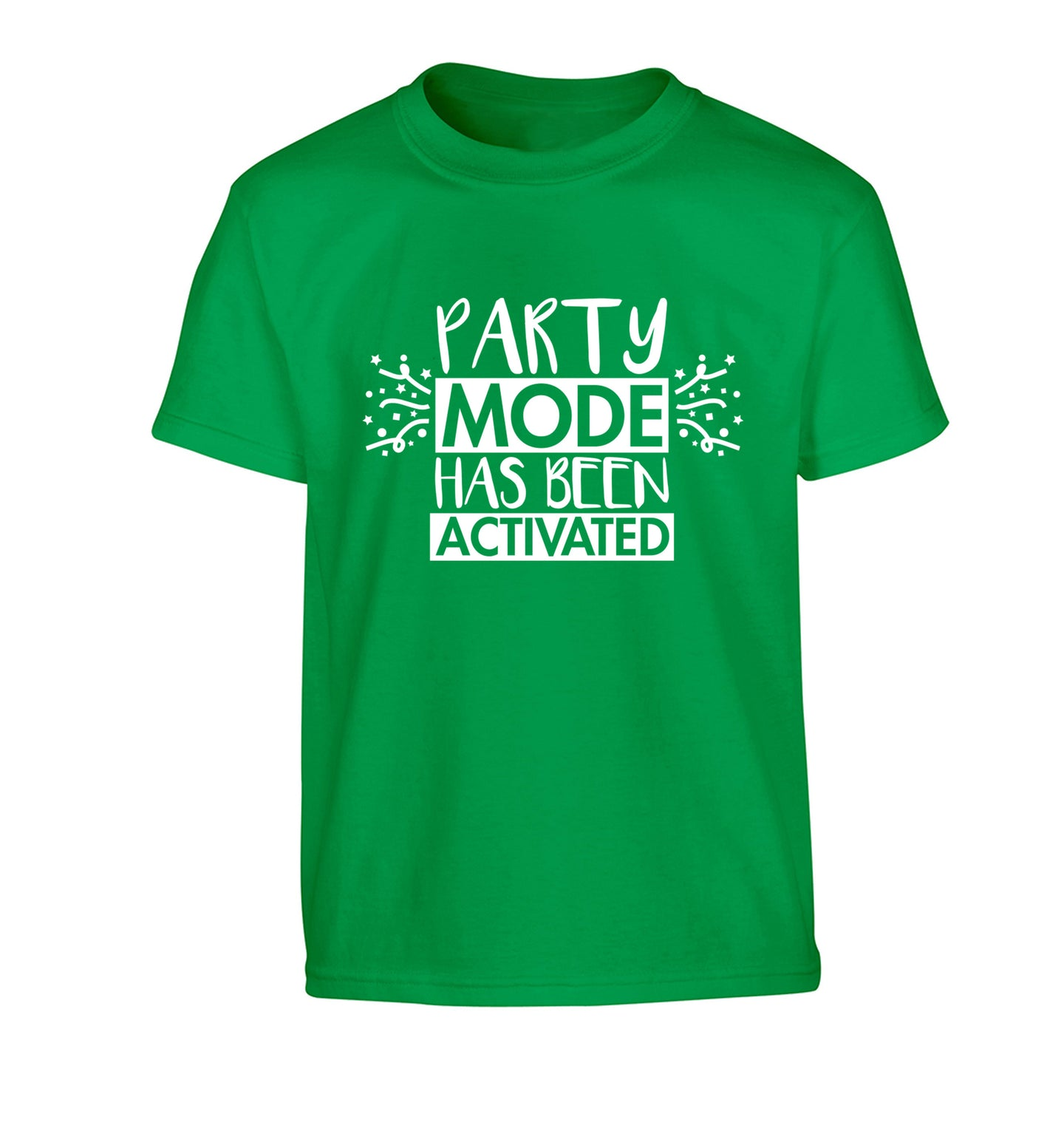 Please do not disturb party mode has been activated Children's green Tshirt 12-14 Years