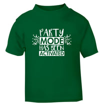 Please do not disturb party mode has been activated green Baby Toddler Tshirt 2 Years