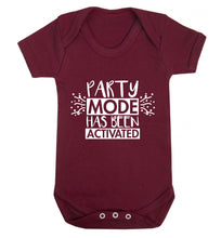 Please do not disturb party mode has been activated Baby Vest maroon 18-24 months