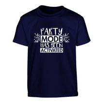 Please do not disturb party mode has been activated Children's navy Tshirt 12-14 Years