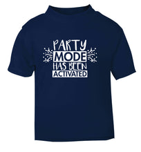 Please do not disturb party mode has been activated navy Baby Toddler Tshirt 2 Years