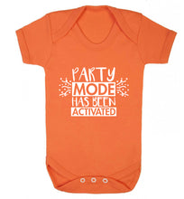 Please do not disturb party mode has been activated Baby Vest orange 18-24 months