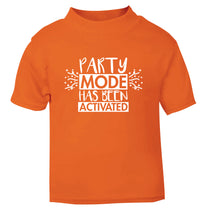 Please do not disturb party mode has been activated orange Baby Toddler Tshirt 2 Years