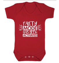 Please do not disturb party mode has been activated Baby Vest red 18-24 months