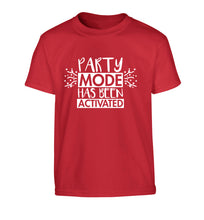 Please do not disturb party mode has been activated Children's red Tshirt 12-14 Years