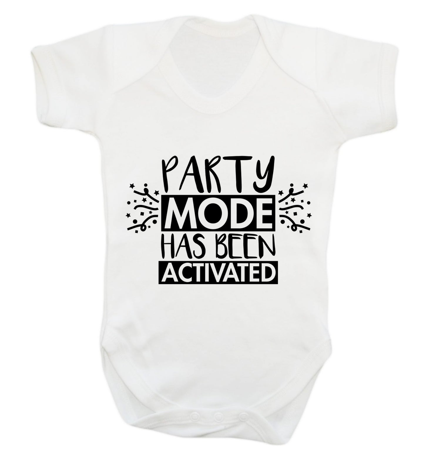 Please do not disturb party mode has been activated Baby Vest white 18-24 months