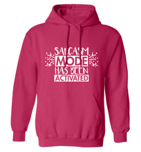 Sarcarsm mode has been activated adults unisex pink hoodie 2XL