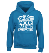 Bbq mode has been activated children's blue hoodie 12-14 Years