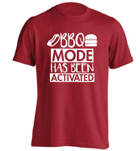 Bbq mode has been activated adults unisex red Tshirt 2XL