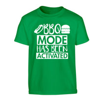 Bbq mode has been activated Children's green Tshirt 12-14 Years