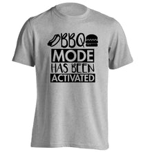 Bbq mode has been activated adults unisex grey Tshirt 2XL