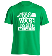 Bbq mode has been activated adults unisex green Tshirt 2XL