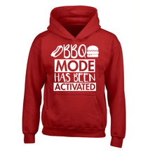 Bbq mode has been activated children's red hoodie 12-14 Years