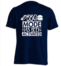 Bbq mode has been activated adults unisex navy Tshirt 2XL