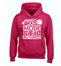 Bbq mode has been activated children's pink hoodie 12-14 Years