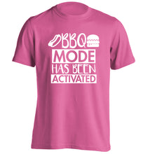 Bbq mode has been activated adults unisex pink Tshirt 2XL